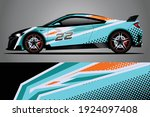 racing car decal wrap design.... | Shutterstock .eps vector #1924097408