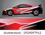 racing car decal wrap design.... | Shutterstock .eps vector #1924097912