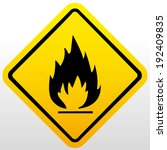 fire warning sign | Shutterstock .eps vector #192409835