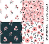 collection floral seamless... | Shutterstock .eps vector #1924100615
