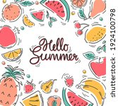 a banner with fruits in a... | Shutterstock .eps vector #1924100798
