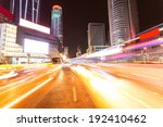 modern city at night  | Shutterstock . vector #192410462