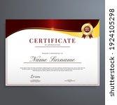 certificate of appreciation... | Shutterstock .eps vector #1924105298