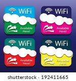 emblem of wi fi service. vector ...