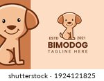 cute kawaii puppy dog mascot... | Shutterstock .eps vector #1924121825
