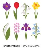 a set of simple icons of spring ... | Shutterstock .eps vector #1924122398