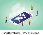 world statistic concept with...   Shutterstock .eps vector #1924132865