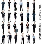 set of business people  full... | Shutterstock . vector #192413786