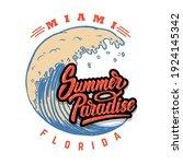 summer paradise. emblem...   Shutterstock .eps vector #1924145342