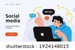 social media network and... | Shutterstock .eps vector #1924148015