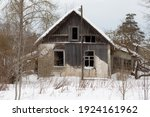 Old Wooden Houses In Russian...