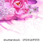delicate pink background with... | Shutterstock .eps vector #1924169555