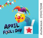 april fools day  typography ...   Shutterstock .eps vector #1924173248