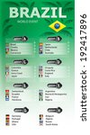 brazil football  soccer games ... | Shutterstock .eps vector #192417896