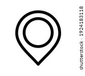 map pin icon or logo isolated... | Shutterstock .eps vector #1924183118