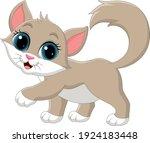 cartoon cute cat isolated on... | Shutterstock .eps vector #1924183448