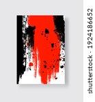 black and red ink brush stroke... | Shutterstock .eps vector #1924186652