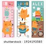 kids height chart with cute fox ...   Shutterstock .eps vector #1924193585