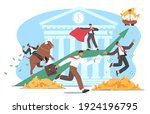 people trading on bull stock... | Shutterstock .eps vector #1924196795