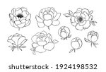 hand drawn line art collection...   Shutterstock .eps vector #1924198532