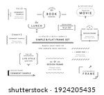 a set of simple designs such as ...   Shutterstock .eps vector #1924205435