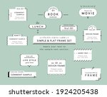 a set of simple designs such as ... | Shutterstock .eps vector #1924205438