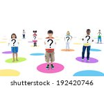 group of people holding board | Shutterstock . vector #192420746