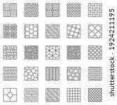 flooring outline icons set.... | Shutterstock .eps vector #1924211195