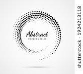 circular dot frame. circle... | Shutterstock .eps vector #1924213118