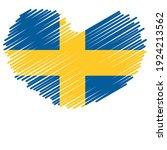 flag of sweden   flag vector    ... | Shutterstock .eps vector #1924213562