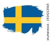 flag of sweden   flag vector    ... | Shutterstock .eps vector #1924213565