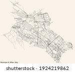 black simple detailed street... | Shutterstock .eps vector #1924219862