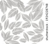 graphic leaves seamless... | Shutterstock .eps vector #1924228748