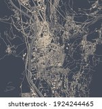 vector map of the city of... | Shutterstock .eps vector #1924244465