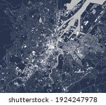 vector map of the city of... | Shutterstock .eps vector #1924247978