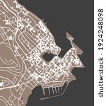 vector map of the city of agios ... | Shutterstock .eps vector #1924248098