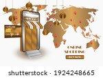 shopping online on smartphone... | Shutterstock .eps vector #1924248665