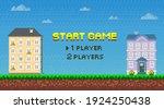 start for players pixel game...   Shutterstock .eps vector #1924250438