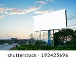 blank billboard for advertising ... | Shutterstock . vector #192425696