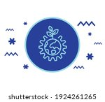 leaf and gear wheel logo. green ... | Shutterstock .eps vector #1924261265
