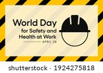 world day for safety and health ...   Shutterstock .eps vector #1924275818