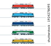 modern electric locomotive....   Shutterstock .eps vector #1924278095