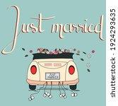 wedding invitation card. just... | Shutterstock .eps vector #1924293635