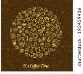 vector doodle coffee  tea and... | Shutterstock .eps vector #192429416