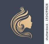 hair salon logo.long  wavy... | Shutterstock .eps vector #1924295828