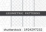 set of geometric seamless... | Shutterstock .eps vector #1924297232