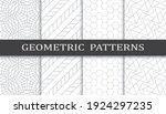 set of geometric seamless... | Shutterstock .eps vector #1924297235