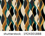 Seamless Abstract Wavy Striped...