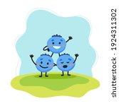 blueberry cute character ... | Shutterstock .eps vector #1924311302