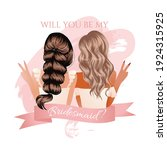 will you be my bridesmaid... | Shutterstock .eps vector #1924315925